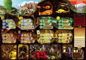 Dungeon Lords igralna plošča
